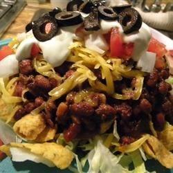 Frito Pie with my original recipe of Four Chile Chili