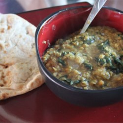 Indian Dahl with Spinach Recipe
