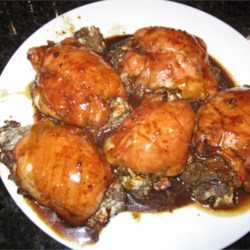 Mushroom-Stuffed Chicken Breasts in a Balsamic Pan Sauce Recipe
