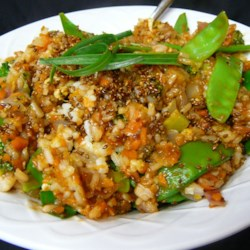 fried rice with ginger hoisin and sesame printer friendly