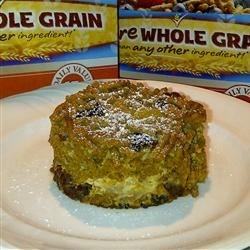 "Fiber One ""Bread"" Pudding - the serving"