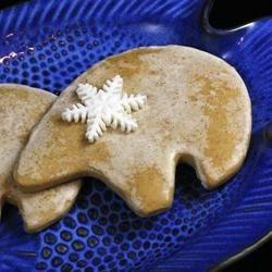 """Flocke"" Frpsted Polar Bear Cut Out Sugar Cookie"