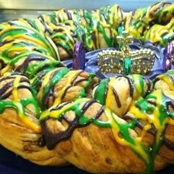 Super Easy Mardi Gras King Cake Recipe