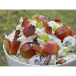 Chicken Salad With Bacon and Red Grapes Recipe