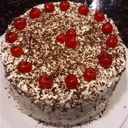 Top view of Jenny's Black Forest Cake