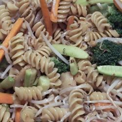 asian pasta salad with beef broccoli and bean sprouts photos