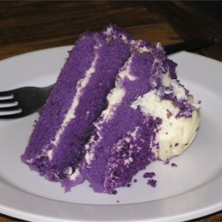 Ube with cream frosting
