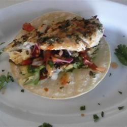 grilled cod taco