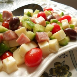 Cucumber and Ham Antipasto
