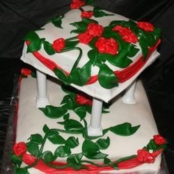 Floral theme birthday cake