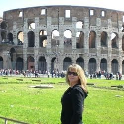 Me in front of the Collessum in Rome