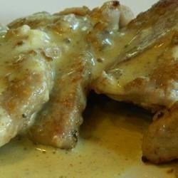 Pork Scaloppini with Mustard Creme Recipe