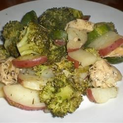 Chicken with Vegetables and Herb Sauce Recipe