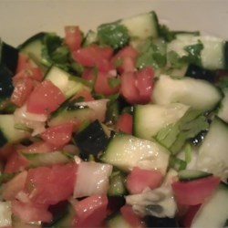 Thai Cucumber Tomato  Salad Recipe