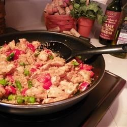 Quinoa with Chicken, Asparagus and Red Peppers Recipe