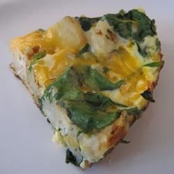 Spinach & Potato Frittata 1