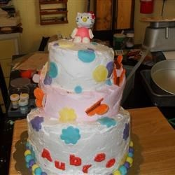 Topsy Turvy Hello Kitty cake