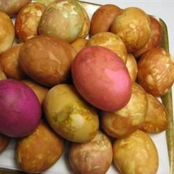 Photo of Onion Skin Colored Eggs by JR