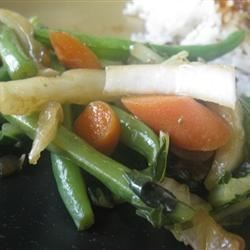 Bok Choy, Carrots and Green Beans Recipe