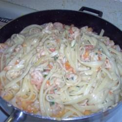 Brandied Shrimp with Pasta