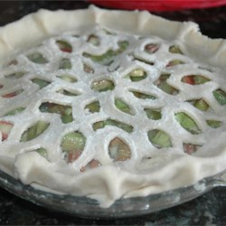 Rhubarb Custard Pie II Recipe