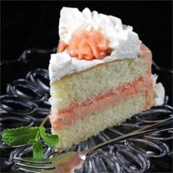 Fresh Grapefruit Cake with Ruby Red Grapefruit Frosting