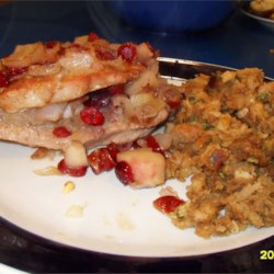 Cranberry and Apple Stuffed Pork Chops Recipe