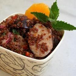 Inca Red Quinoa Salad with Sweet Apple Chicken Sausage