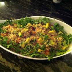 Quinoa Salad with Grapefruit, Avocado, and Arugula Recipe