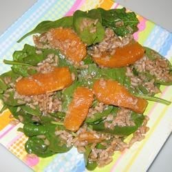 Orange Vinaigrette Brown Rice Salad Recipe