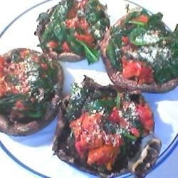 Spinach Stuffed Portobello Mushrooms with Avocado Recipe