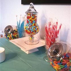 Setting Up Candy Table