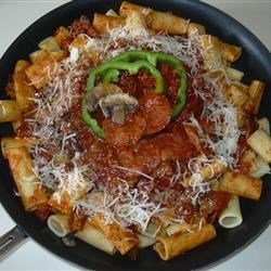 Rigatoni with Pizza Accents