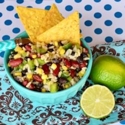 mexican bean and rice salad printer friendly