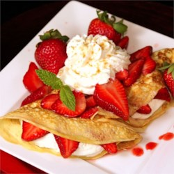 Strawberry Dessert Crepes