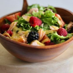 Summer Berry Salad with Salmon