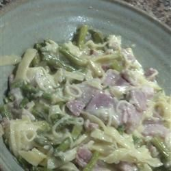 Ham and Asparagus Fettuccine Recipe