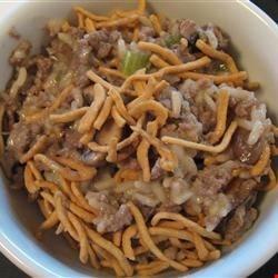 Chow Mein Noodle Casserole Recipe