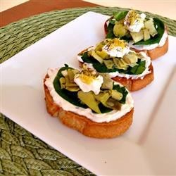 Artichoke Heart and Chopped Olive Crostini Recipe