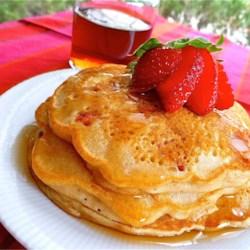 Strawberry Vanilla Pancakes Recipe