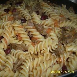 Taco beef pasta