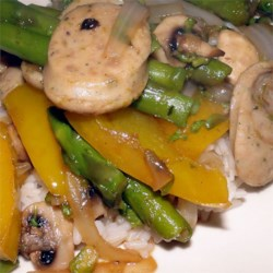 Garlic Chicken Sausage and Summer Vegetable Saute
