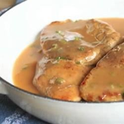 Chicken Breasts with Chipotle Green Onion Gravy Recipe
