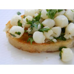 Photo of Bay Scallops with Garlic Parsley Butter Sauce by Chef John