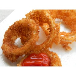 Making Crispy Onion Rings Recipe