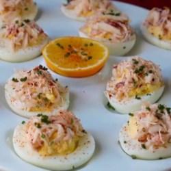 crab stuffed deviled eggs printer friendly
