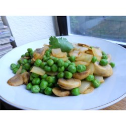 Ed's Secret Pea and Mushroom Salad