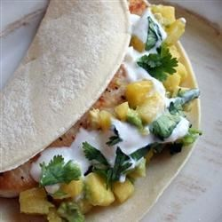 Soft Mahi Mahi Tacos with Ginger-Lime Dressing Recipe