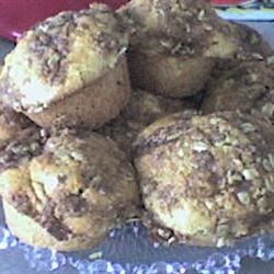 Apple Muffins with Oatmeal Crumble Topping