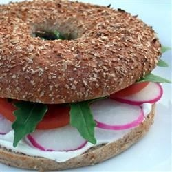 Spring Veggie Bagel Sandwich Recipe